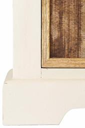 Vitrine SYLT 190 cm Mangoholz in mango & weiß mit Schublade