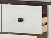 Badschrank CHERYL aus Kiefer massiv in havanna-weiß