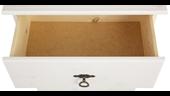 Kommode FOTINA mit 4 Schubladen aus Kiefer in weiß lasiert