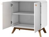 2-trg. Schrank CARMEN in weiß/weiß, Skandinavisches Design