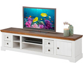 1-trg. TV Lowboard ANTON aus Kiefer in weiß/walnuss, 180 cm