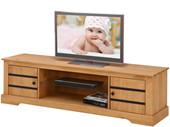 2-trg. TV Lowboard LOVIS aus Kiefer massiv in gebeizt geölt