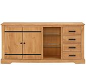 Sideboard LOVIS aus Kiefer Breite 170 cm, gebeizt geölt