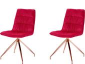 5-tlg. Essgruppe ZELDA 120 cm mit 4 Stühlen in rot