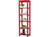 Großes Bücherregal TRENDY in rot