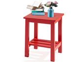 Beistelltisch TRENDY aus MDF &Hevea-Holz in rot