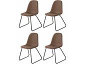 5-tlg. Essgruppe COCO 80 cm mit 4 Stühlen in cappuccino