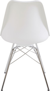 4er-Set Stühle JERRY Gestell aus Chrom in weiß