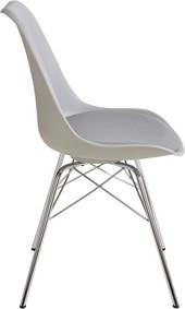 4er-Set Stühle JERRY Gestell aus Chrom in grau
