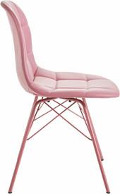 Modernes 2er-Set Stühle SINEAD aus PU in rosa