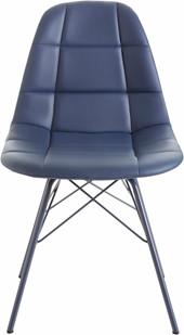 Modernes 2er-Set Stühle SINEAD aus Pu in dunkel blau