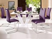 2er Set Kunstlederstühle VERA in lila