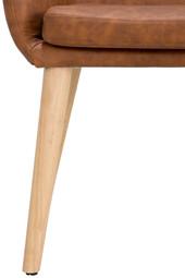 Sitzbank PALDAR aus Kunstleder in cognac Breite 145 cm