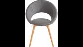 6er Set Stühle TUXEDO aus Kunstleder in grau