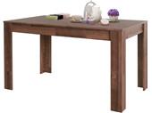 5-tlg. Essgruppe LYON, Tisch 140 cm, braun/anthrazit
