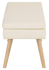 Sitzbank MILAN 125 cm gepolstert in creme
