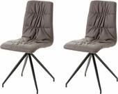 2er-Set Stühle GARY mit Kunstleder in braun/schwarz
