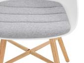2er-Set Esszimmerstuhl KENNY im Skandinavischen Design, weiß