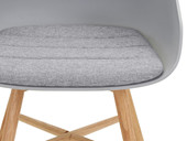 5-tlg. Essgruppe KIM im skandinavischen Design, grau/grau