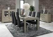 2er Set Stühle MANTONI aus Amarillo Leder in schwarz