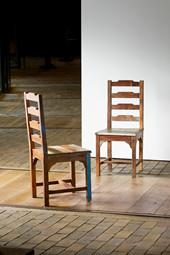2er Set Indische Stühle BARBADOS aus Massivholz in schoko