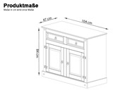 Sideboard MIGUEL mit 2 Türen in dunkel gebeizt geölt