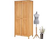 Kleiderschrank PULLMANN mit 2 Türen in gebeizt geölt