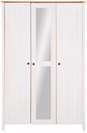 3-trg. Kleiderschrank PULLMANN in weiß-honigfarben