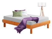 Bett OCTAVE 90x190 aus Kiefer massiv honigfarben lackiert