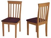 Essgruppe SIA 140 x 80 cm mit 4 Stühlen aus Massivholz