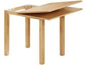 Aufklappbarer Tisch CYRANO 80-120 cm in Natur furnier
