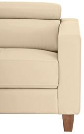 3-Sitzer Sofa LUCA aus Glattleder & PU in creme Links