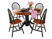 4er Set Stühle MAGGIE aus Massivholz in schwarz und honig