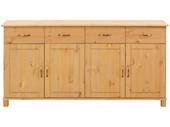 Sideboard PASHA  4 Türen Kiefer massiv gebeizt geölt