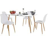 4er-Set Stuhl MIANA Schalenstuhl in weiß
