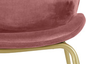 2er-Set Esszimmerstuhl RAHEL Samtstoff in rosa