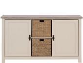 2-trg. Sideboard GABRIELLE mit 2 Körben in sandfarben