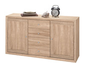 Sideboard JAMY 140 cmaus FSC® Holz in Sonoma Eiche