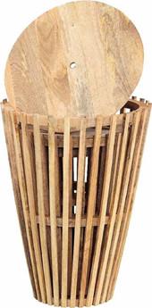 3er Set  Beistelltisch VANA aus Mangoholz in braun