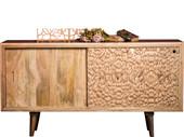 Sideboard TINKLE 160 cm Breite aus Mangoholz in naturfarben