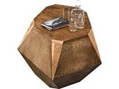 Beistelltisch ROCKY aus Mangoholz massiv in braun, 40 cm
