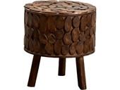 Sitzhocker FOTUNE aus Eukalyptusholz in braun