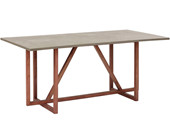 Esstisch BENN 180 cm Breite aus Mangoholz im Beton-Optik