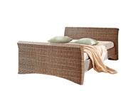 Bett NINA in 140 cm  aus Rattan in braun