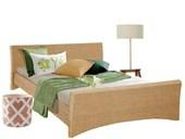 Bett NINA in 180 cm aus Rattan in natur