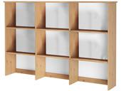 Buffetaufsatz KARA mit 9 Fächern in weiß/natur, Kiefer