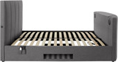 Multimedia-Bett YALE 140x200 cm mit Surround System