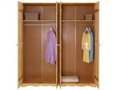 4-trg. Kleiderscchrank MAISY aus Kiefer in gebeizt geölt