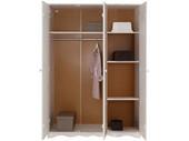3-trg. Kleiderschrank MAISY aus Kiefer massiv in weiß