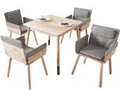 Moderner Esstisch JAY 80x80 cm aus Massivholz in natur